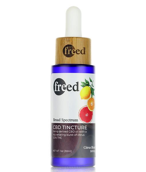 Freed CBD Tinctures Citrus Flavor