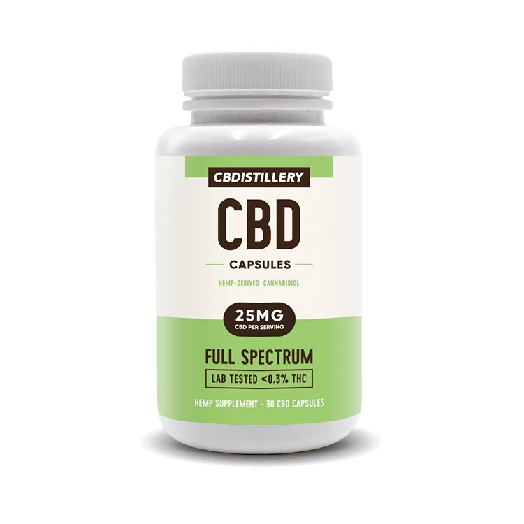 CBD Pill Capsules – 25mg – 30 count